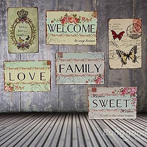Paleo Amor estaño familia firmar bar cartel decoración casera de la pared la placa de metal de la vendimia