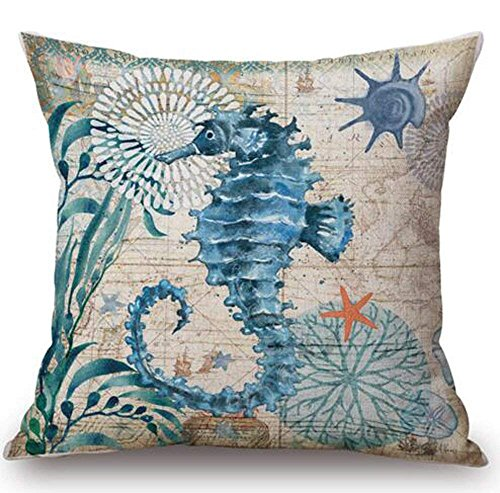 LULABE Animal Sea Turtle Wall Decorative Pillowcase Throw Pillow Cushion Cover Square Home Life ¡­ (6) for Couch Sofa Or Bed Set Cozy Home Decor Size:20 X 20 Inches/50cm x 50cm -