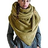 Yunobi, Sciarpa effetto scialle da donna vintage con bottone, morbida e calda, alla moda, stile casual, con stampa, in cotone