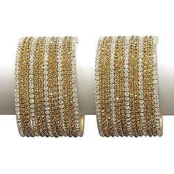 Muchmore Golden Diamond 26 Bangle Set For Women(2.8)