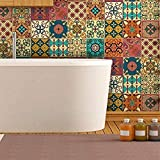 Ambiance-Live col-tiles-ROS-A838_15x15cm Stickers adhésifs carrelages, Vinyle, Ornements Artistiques Design, 15 x 15 cm