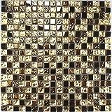 Glasmosaik Fliesen Mosaikfliesen Glasfliesen Mosaik Glas Bronze Gold 30x30