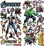 The Avengers Personnalisé 3D Cartoon stickers muraux pour les chambres garçons et filles sticker mural Taille: Grand 76 cm X 72 cm...