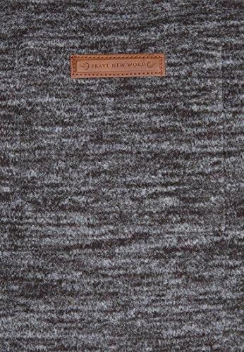 Naketano Male Zipped Jacket Gnadenlos durchgerattert Anthracite Melange