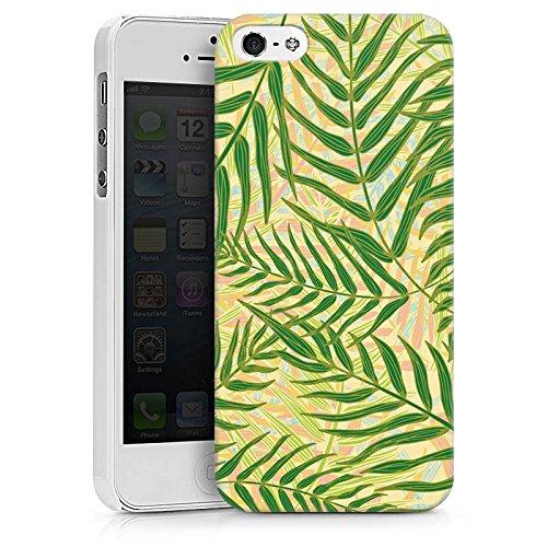 Apple iPhone X Silikon Hülle Case Schutzhülle Tropische dschungel Blätter Hard Case weiß