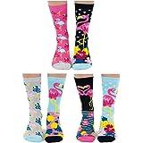 Go Flamingo United Odddsocks - Caja de 6 calcetines para mujer, 37-42 EU