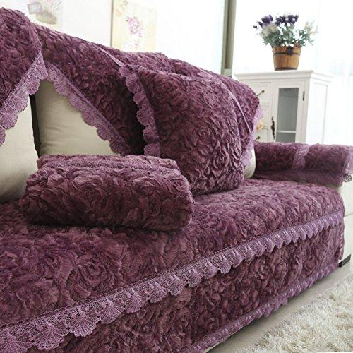Divano cuscini/Tessuti semplici e moderne per cuscino antiscivolo autunno/inverno/ peluche telo di copertura di fodera imbottita di quattro stagioni-E 70x70cm(28x28inch)