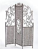 Paravent Avis H 183 cm Sichtschutz Rankgitter Eisen