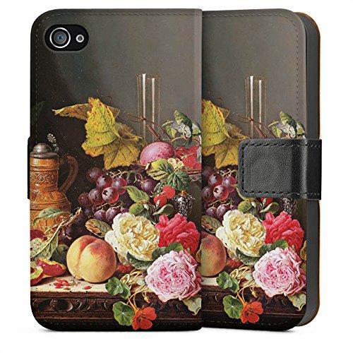 Apple iPhone 5s Housse Étui Protection Coque Nature morte Art Art Sideflip Sac