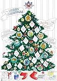 O'my Poster a colorare Natale con Adesivi Fluorescenti