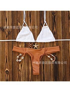 Las conchas correa trenzada _ moderno y cómodo bikini mano correa trenzada de shell-venta. pass. El exterior,...