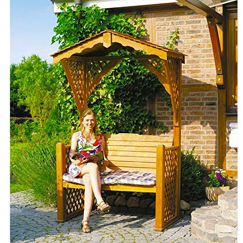 Holz-Gartenlaube Starnberg Gartenbank Kiefernholz massiv imprägniert
