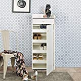Home Centre Mobile Shoe Cabinet -18Pairs - White