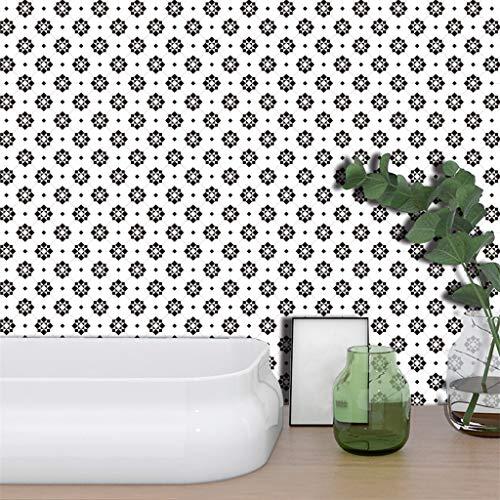 Wandsticker Küche, CHshe 19 Stück 3D Fliese Wand Sticker Entfernbar Selbstklebend Pvc Wandtattoo Küchen Bad Tapete Dekorative Möbelfolie Dekorfolie 10X10Cm - Dekorative Wand-fliesen