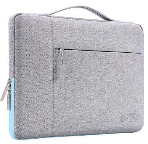 MOSISO Laptop Multifunktion Aktentasche Handtasche Kompatibel 2018 MacBook Air 13 A1932, Neu MacBook Pro 13 Zoll A1989&A1706&A1708 2018/2017/2016, Surface Pro 6/5/4/3 Polyester Hülle, Grau & Heiß Blau