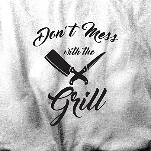 Verwirren Sie nicht mit dem Grill BBQ-Chef Kochen Sommer Herren T-Shirt Black