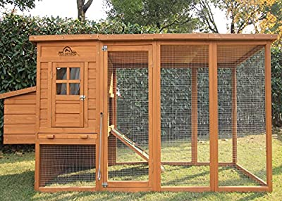 Pets Imperial® Arlington Chicken Coop With Extra Long Run 8ft/2.5m and Ashpalt Roof Suitable For 4/6 Birds Depending On Size by Chicken Coops Imperial®