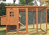 Pets Imperial® Arlington Chicken Coop With Extra Long Run 8ft/2.5m and Ashpalt Roof Suitable For 4/6 Birds Depending On Size