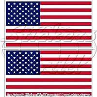 Usa stati uniti America bandiera americana 119,4cm (120MM) adesivi in vinile, decalcomanie x2