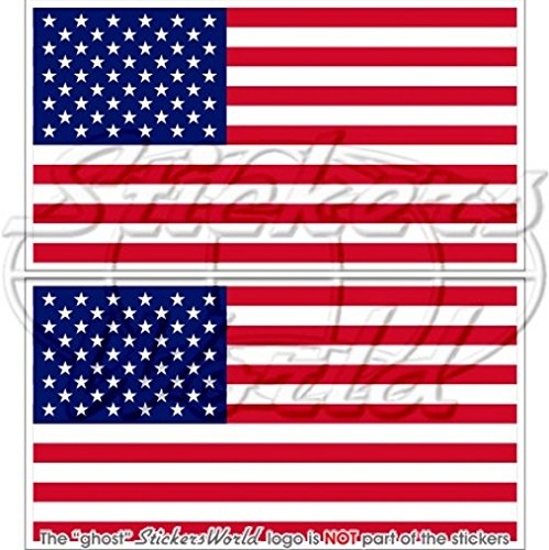 Usa stati uniti America bandiera americana 10,2cm (100mm) adesivi in vinile, decalcomanie x2