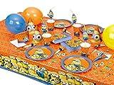 Minions Partygeschirr Partyset Servietten Becher Teller Kindergeburtstag Geschirr bis 8 Kinder