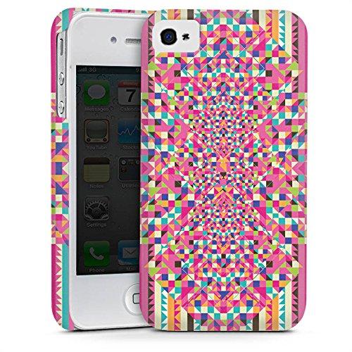Apple iPhone 4 Housse Étui Silicone Coque Protection Effet d'optique Motif Motif Cas Premium mat