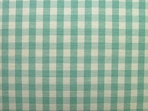Harlequin Aqua Woven Gingham Check Cotton Designer Fabric - Sold By The Metre by Pandoras Upholstery®