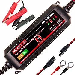 MOTOPOWER MP00207A 12V 2Amp Chargeur de Batterie Automatique Intelligent/Maintainer pour Les Deux Batteries au Plomb et Les Batteries au Lithium-ION