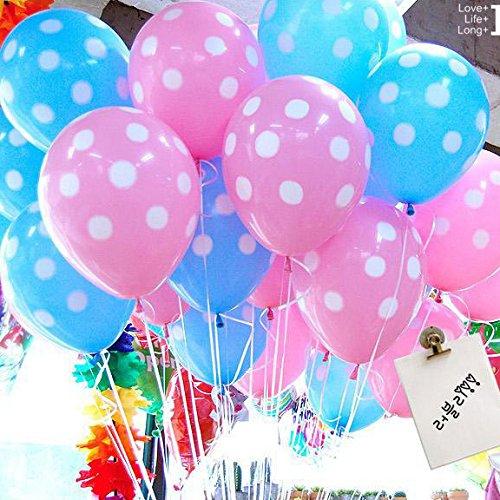 Caxmtu - Globos de látex con lunares, 20 unidades, 30,5 cm, para boda, cumpleaños, fiesta, fiesta, juguete