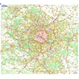 Carte Plastifie Roule Grande Banlieue de Paris