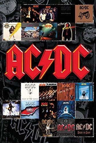 empireposter 717979AC/DC–Covers–Póster de música Heavy Metal Hard Rock de AC DC–Tamaño 61x 91,5cm, Papel, Multicolor, 91,5x 61x 0.14cm
