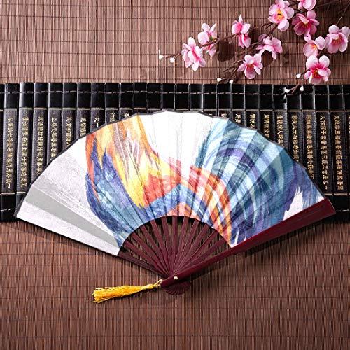 AGIRL Niedliche Bambus Fans Cartoon mächtigen Schwanz mit Bambus Rahmen Quaste Anhänger und Stoffbeutel benutzerdefinierte Faltfächer Papier Faltfächer Fan von Hand