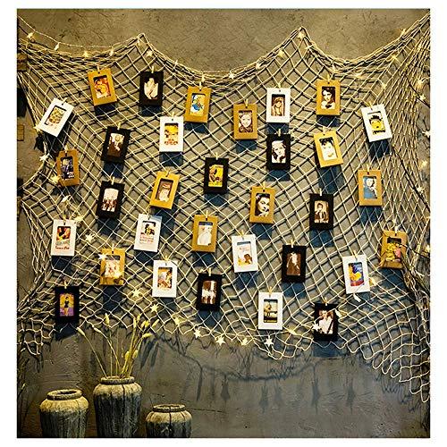 Hanfseil Net,Seilnetz Fotowand Rope Sicherheitsnetz Kinder Frame
