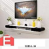 HYW Dekoration-TV Schrank Set Top Box Regale Wohnzimmer TV Wand Hintergrund Wand hängen Schlafzimmer Partitionen Wanddekoration (Mehrere Stile zur Verfügung),E