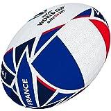 Gilbert Coupe du Monde de Rugby Japon 2019Boule de Drapeau de la France Mini Multicolore...