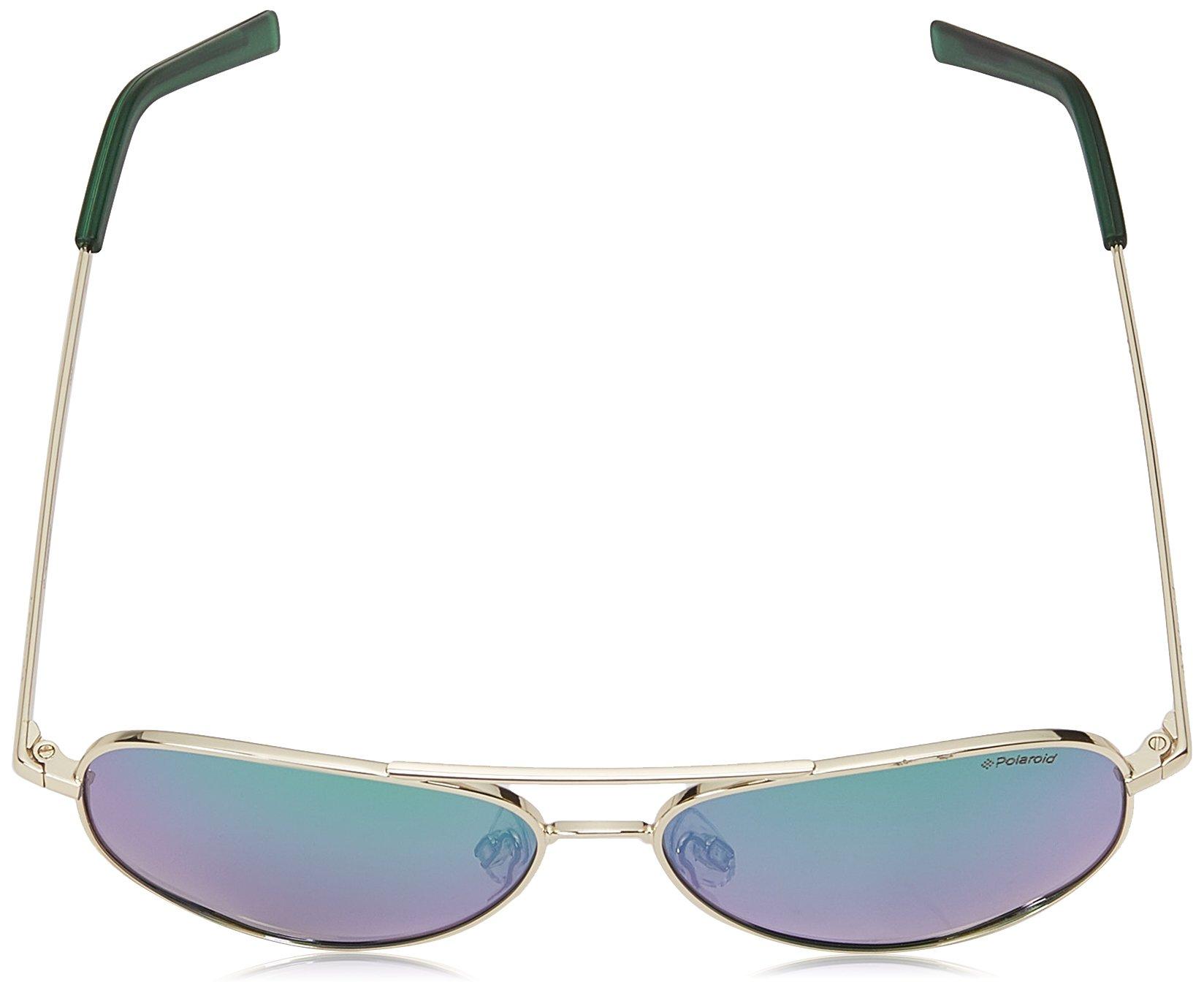 Polaroid Kids Metal Aviator Gafas de sol en oro verde azul espejo polarizado PLD 8015/N J5G 52 K7
