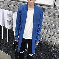 Otoño y Invierno Chaqueta de punto estilo suave Jersey koreanische Hombres–Chaqueta, color azul celeste, tamaño xx-large