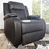 Moderner Relaxsessel HOLLYWOOD mit Liegefunktion schwarz Sessel Liege