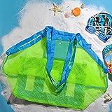 borsa da spiaggia TOPBEST La grande borsa da spiaggia in tessuto a rete con tote, zaino, asciuga la sabbia degli asciugamani, perfetta per contenere i giocattoli dei bambini by TOPBSET