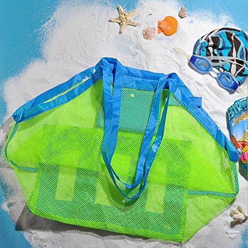 Extra Große Strand Aufbewahrung Tasche Netz Sandspiel Netztasche für Sandspielzeug,Kinder Aufbewahrungsnetz Aufbewahrung Netz Tasche für Sandspielzeug Strand (9 Tauchausrüstung)