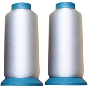 2 Packs 0.1MM 5000 Yards Clear Sewing Threads for Quilting, Wedding Dress, Sequin
