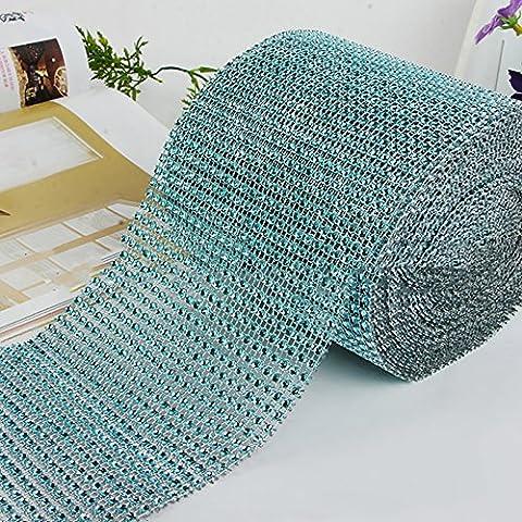 Dairyshop Rouleau de ruban de strass en maille losange pour décoration de gâteau
