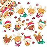 Renne adesive in feltro per Bambini, Ideali per Decorare Bigliettini, Creazioni Fai da Te e Collage (confezione da 90)