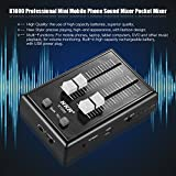 Kalaok K1000 Mini Cellulare Professionale Mixer Audio Pocket Mixer Interfacce da 3,5 mm con L'adattatore di Potere