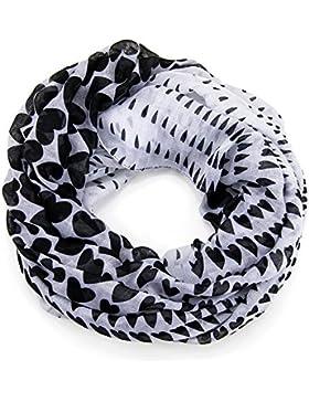 bufanda infinita sin fin manguera redonda bufanda de senora ligera panuelo corazones