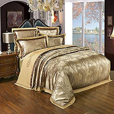 Zangge Bedding Luxury Satin Jacquard Gold Bedding Sets KL-JZLQ produced by Zangge Bedding - quick delivery from UK.