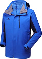 CAMEL CROWN Herren Outdoor 3-in-1 Skijacke, Zweiteilige Winterjacke mit Fleecefutter, Winddicht, Wasserdicht und Hält Warm
