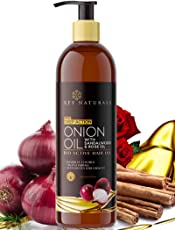 Rey Naturals Onion Hair Oil Nourishing Hair Fall Treatment With Real Onion Extract to Control Intensive Hair Fall and Dandruff