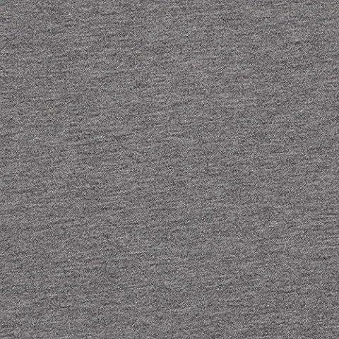 Tissu sweat molleton jersey coton uni - Gris chiné - Largeur 155cm