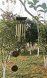Generic Amazing Antique Bronze Metal Wood Olive Chapel Church Bells Wind Chimes 25''